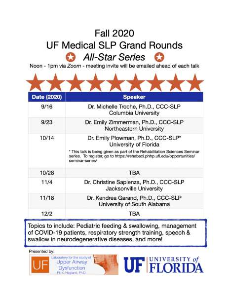 Grand rounds schedule